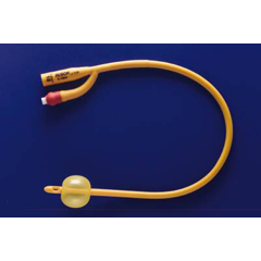 MON70521910 - Teleflex MedicalFoley Catheter Rusch Gold 2-Way Standard Tip 5 cc Balloon 24 Fr. Silicone Coated Latex