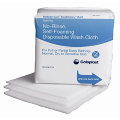 MON70551800 - Coloplast - Easicleanse Bath No Rinse All Body Self Foaming Washcloth