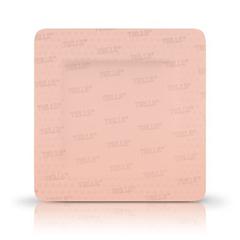 MON70902102 - Systagenix - Silicone Foam Dressing TIELLE™ 2-3/4 X 3-1/2 Inch Square Adhesive with Border Sterile