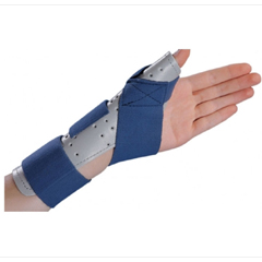 MON71143000 - DJOThumb Splint ThumbSPICA® Thumb Spica Foam / Cotton-Terry Left Hand Blue / Gray Small / Medium
