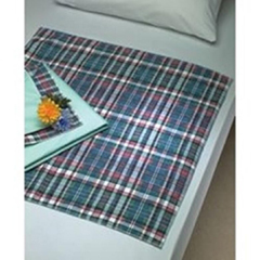 MON872920CS - Beck's Classic - Underpad Plaidbex 18 x 24 Reusable Polyester / Rayon Heavy Absorbency
