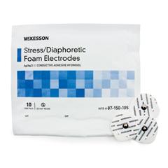 MON71502550 - McKessonStress Monitoring Monitoring Adult Diaphoretic Foam Non-Radiolucent