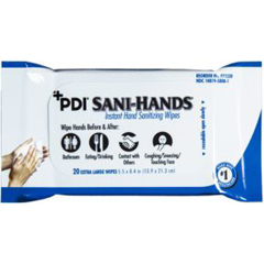 MON71521100 - PDISanitizing Skin Wipe Sani-Hands Soft Pack Alcohol 20 per Pack