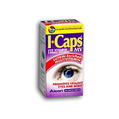 MON71952700 - AlconEye Vitamin and Mineral Supplement with Lutein ICaps MV 200 IU / 256 mg Strength Tablet 100 per Bottle