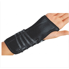 MON72173000 - DJO - Wrist Splint Cinch-Lock Suede / Flannel Left Hand Black Large