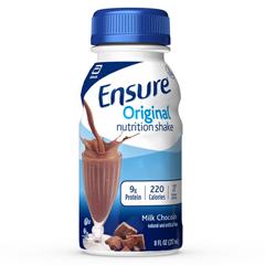 MON649270EA - Abbott Nutrition - Oral Supplement Ensure® Original Chocolate 8 oz. Bottle Ready to Use