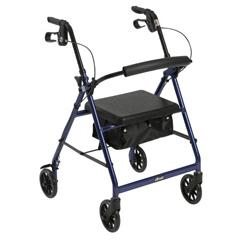 MON1065264EA - McKesson - 4 Wheel Rollator (146-R726BL)