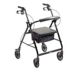 MON1065266EA - McKesson - 4 Wheel Rollator (146-R726BK)