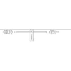MON454237EA - Baxter - Extension Set 6 1 Port 1 mL Priming Volume NonDEHP