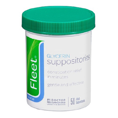 MON72742700 - C.B. FleetLaxative Fleet Suppository 2 Gram Strength Glycerin, 50 per Bottle