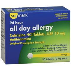 MON72762700 - McKessonsunmark® Allergy Relief (3572765), 30/BT