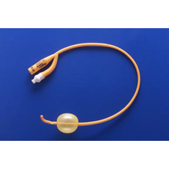 MON72771900 - Teleflex MedicalFoley Catheter PureGold 2-Way Coude Tip 30 cc Balloon 24 Fr. PTFE Coated Latex