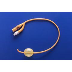 MON72771910 - Teleflex MedicalFoley Catheter PureGold 2-Way Coude Tip 30 cc Balloon 24 Fr. PTFE Coated Latex