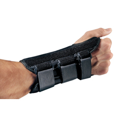 MON72953000 - DJO - Wrist Splint PROCARE ComfortFORM Aluminum Stay Foam / Lycra Left Hand Black Medium