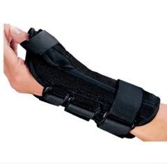 MON73033000 - DJO - Wrist Splint PROCARE® ComfortFORM® With Abducted Thumb Foam / Lycra Right Hand Black Small