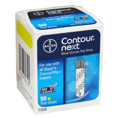 MON834445BX - Bayer - Blood Glucose Test Strip Contour® Next 50 Test Strips per Box