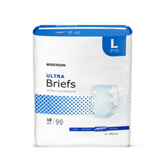 MON73383100 - McKessonUltra Heavy Absorbency Briefs, Large, 72/CS