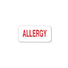 MON16854700 - Carstens3/4 x 1-1/2 Allergy Alert Label, 100EA/RL