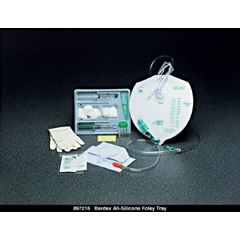 MON73801900 - Bard MedicalIndwelling Catheter Tray Bardia Foley 16 Fr. 5 cc Balloon Silicone
