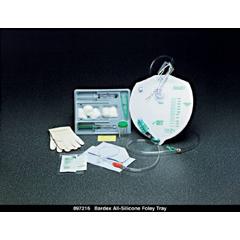 MON73801910 - Bard MedicalIndwelling Catheter Tray Bardia Foley 16 Fr. 5 cc Balloon Silicone