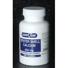 MON74112712 - McKessonCalcium Supplement 500 mg Tablet 100 per Bottle, 100/BT 12BT/CS
