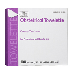 MON74821700 - PDIObstetrical Towelette Hygea® 5 X 7.88 Inch Individual Packet Disposable, 100EA/BX