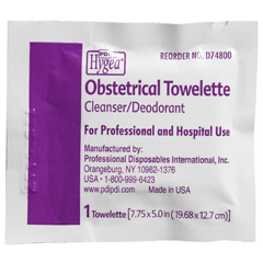 MON74821710 - PDIObstetrical Wipe Hygea Individual Packet Benzalkonium Chloride / Alcohol / Chlorothymol 100 per Pack
