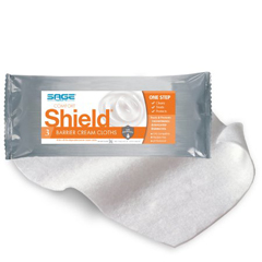 MON75033100 - Sage ProductsBarrier Cream WashCloths Comfort Shield® Easy Tear Package Disposable, 3EA/PK