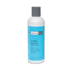 MON75781800 - Central SolutionsNo-Rinse Shampoo and Body Wash DermaCen 8.5 oz. Bottle Light Scent
