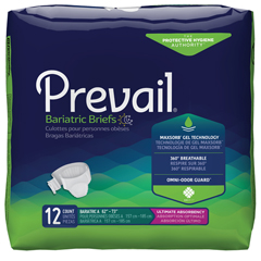 MON76203100 - First QualityPrevail® Bariatric Brief, Heavy Absorbency, 2XL, (62 to 73), 12EA/PK, 4PK/CS