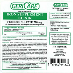 MON76302700 - McKessonIron Supplement (Ferrous Sulfate) Liquid 16 oz.
