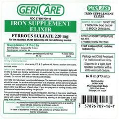 MON76322700 - McKessonIron Supplement 220 mg Strength Liquid 16 oz.