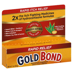 MON76552700 - ChattemItch Relief Gold Bond 1% / 1% Strength Cream 1 oz. Tube (3283934)