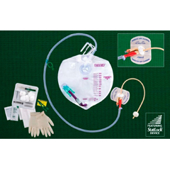 MON76661900 - Bard MedicalIndwelling Catheter Tray Lubricath SAFETY-FLOW Foley 16 Fr. 5 cc Balloon (907616)