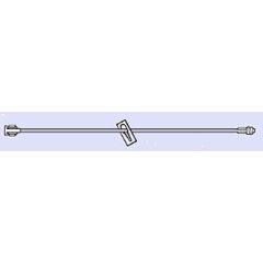 MON768772BX - All-Med - Extension Set 7 Tubing Without Port 0.20 mL Priming Volume DEHP-Free, Lipid Resistant, 50 EA/BX