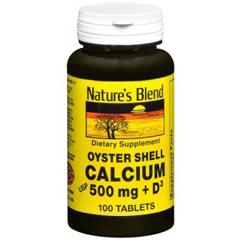 MON77012700 - National Vitamin CompanyNatures Blend Calcium Supplement with Vitamin D, 100 per Bottle