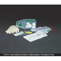 MON77241910 - Bard MedicalIntermittent Catheter Tray Bard Bilevel Urethral 15 Fr. Without Balloon Red Rubber