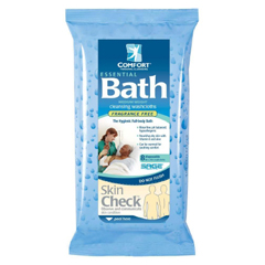 MON472677PK - Sage Products - Essential Bath® Wipes, Soft Pack, Aloe Vitamin E, Unscented, 8/PK