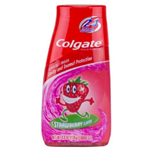 MON78221700 - Colgate-PalmoliveToothpaste Colgate® Kids 2 In 1 Strawberry 4.6 oz. Flip Top Container, 12EA/CS