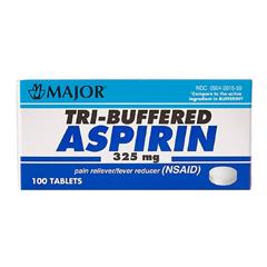 MON78312700 - McKessonTri-Buffered Aspirin Tablets 325 mg, 100 per Bottle