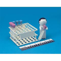 MON78443200 - Health Care LogisticsBlood Tube Rack 36 Place 13 mm White 4 X 4 X 2-1/4 Inch