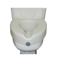 MON78473500 - McKessonRaised Toilet Seat sunmark® 5 Inch White 250 lbs.