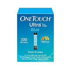 MON78832400 - Life ScanBlood Glucose Test Strips OneTouch Ultra Blue 100 Test Strips per Box (2002426)