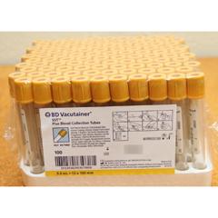 MON207068BX - BD - Vacutainer® Plus Venous Blood Collection Tube Serum Tube Clot Activator / Gel 13mm X 100 mm 5 mL BD Hemogard™ Closure Plastic, 100EA/BX