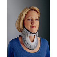MON650801EA - DJO - Rigid Cervical Collar with Replacement Pads PROCARE® Aspen® Plastic Regular Two Piece 3 Inch Height 13 to 22 Inch Circumference