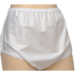 MON80028600 - Murray SalkSani-Pant® Unisex Snap On Nylon Brief, White, Medium, 30-36 Inch Waist