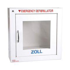 MON548911EA - Zoll Medical - AED Wall Cabinet with Alarm Standard Metal Wall Cabinet with Alarm, 17.4 X 17.4 X 8.9 Inch Zoll AED Plus®