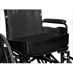 MON80514300 - Bluechip MedicalAnti-Thrust Wedge Cushion with Square Pommel Level-R® 16 X 20 Inch, 3 to 1.5 Inch Foam