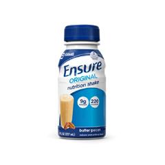 MON938367EA - Abbott Nutrition - Oral Supplement Ensure® Original Butter Pecan 8 oz. Bottle Ready to Use
