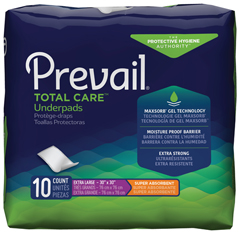 MON747197CS - First Quality - Prevail® Super Absorbent Underpad - XL, Printed Bag, 100/CS